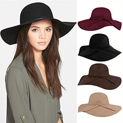 Floppy Wide Brim Hat with Rope Trim