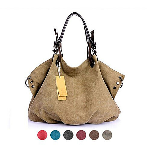 Soft Canvas Slouchy Convertible Handbag