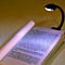1pcs Mini Flexible Clip-On Bright Book Light Laptop White LED