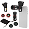 4in1 10x Zoom Telephoto Fish Eye + Wide Angle + Micro Clip Lens For iPhone