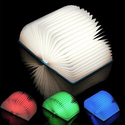 Magic Folding LED Table Lamp Book Shaped Light Warm Nightlight