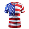Mens American Flag Short Sleeve T Shirt Top Tees 4Th Of July Clothing USA