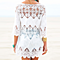 White Crochet Embroidered Beach Cover Up