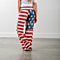 Women American Flag Drawstring Wide Leg Pants Leggings