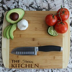 Large Personalized Bamboo Cutting Board with Rounded Edges