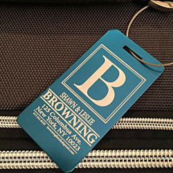 Personalized Aluminum Luggage Tags - 6 Designs