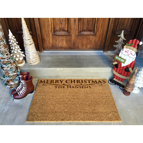 Personalized Christmas Door Mats - 2 Designs