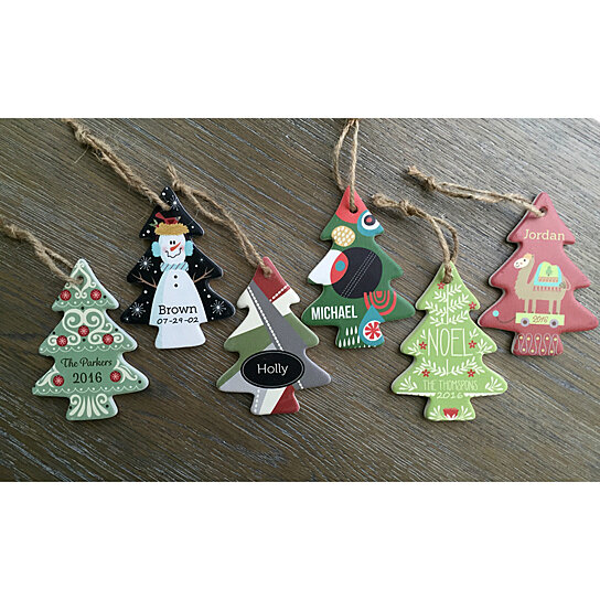 Buy Personalized Christmas Ornaments Christmas Tree Shape By