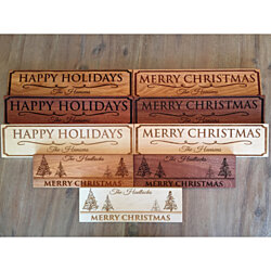 Personalized Christmas Signs - 3 Wood Choices, 3 Designs