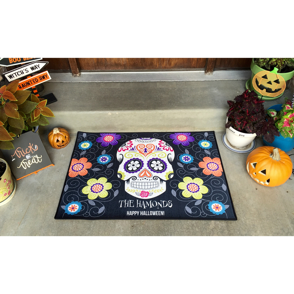 Personalized Large Halloween Door Mats - Blacks 57ed95b4a020af12e866682a