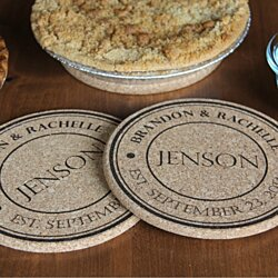 Personalized Large Kitchen Hot Pads - Set of 2!
