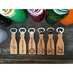 Personalized Magnetic Bottle Openers - 6 Classic Designs
