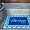 Personalized Medium Door Mats - Floral Border Design