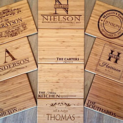 Personalized 6x8 Single-Tone Bamboo Cutting Board