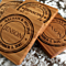 Personalized Thick Bamboo Coaster - 1 Coaster! - 5 Amazing Designs!