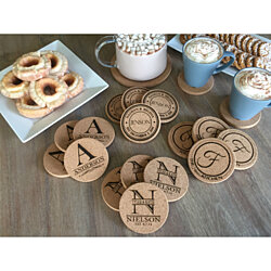 Personalized Thick Cork Coasters - Set of 4! - 4 Amazing Designs