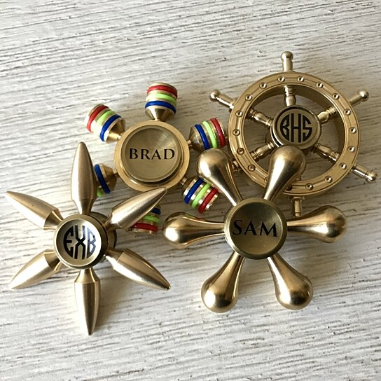 Premium Gold Personalized Fidget Spinners