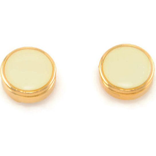 Buy 14kt gold ep french vanilla cream enamel men 39 s shirt for Mens dress shirt button covers