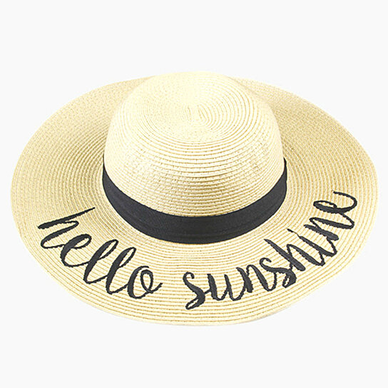 5fc4c38c Buy Amtal Women Wide Brim Embroidered Beach Pool Floppy Summer Vacation Sun  Hat by Girl N' Glam on OpenSky