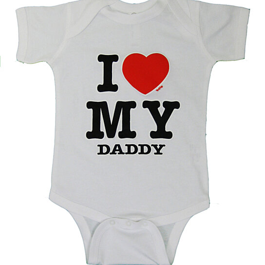 3eee4da1a1bf Buy Infant White I Love My Daddy Onesie, Cute Tees, Boys Shirt, Toddler  Shirt, Girls Shirt, Newborn, Father's Day by Girl N' Glam on OpenSky