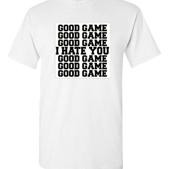 Buy men white good game tee shirt tee shirt inspiration for Good white t shirts