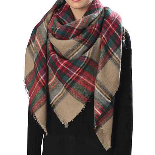 Buy Women Large Stylish Warm Plaid Checkered Design