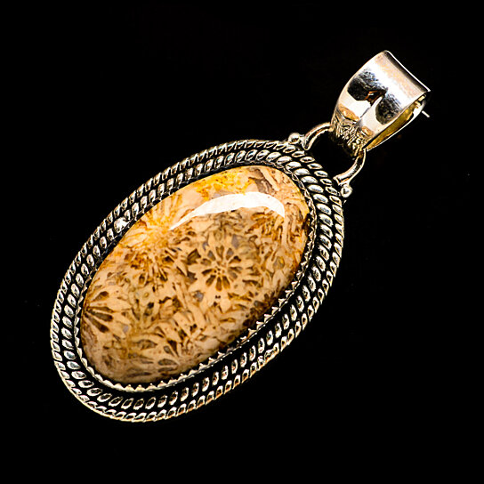 PD690960 Fossil Coral Pendant 1 12 925 Sterling Silver