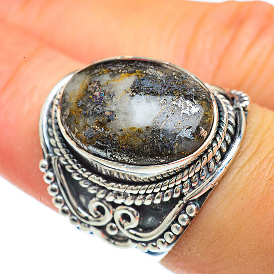 Pyrite Sterling Silver Ring Sz 7