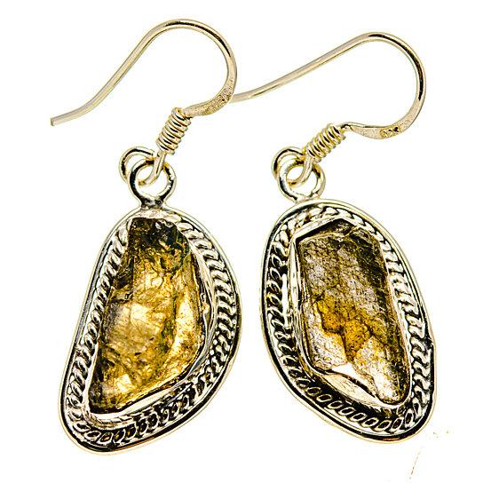 rough finish labradorite earrings