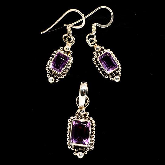 Sterling silver Amethyst Earrings Amethyst Ear Climber Amethyst Earrings Faceted Amethyst Stones Boho Earrings Amethyst Ear Cuff