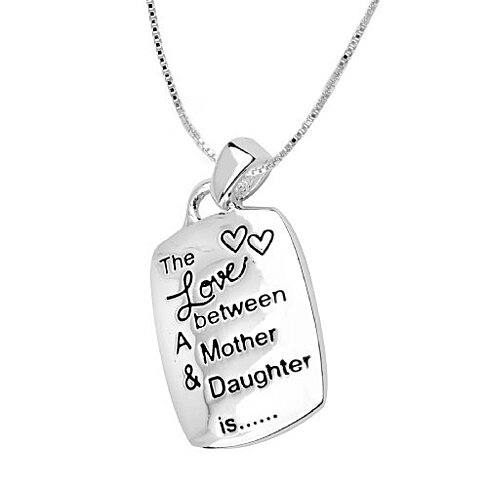 "Stamped Necklace ""The Love Between a Mother & Daughter is..."""
