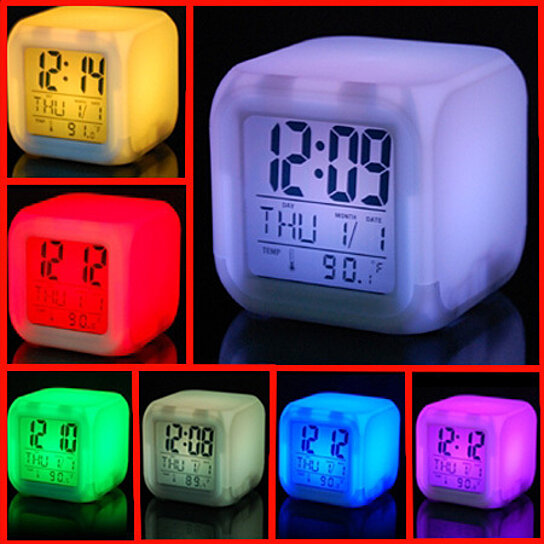 Buy Led Color Cube Alarm Clock By Angelsale On Opensky