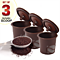 Set of 3 Smart Reusable  Coffee Filters + 1 bonus scoop