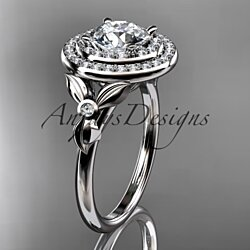 14kt white gold diamond wedding ring, engagement ring ADLR133OSY