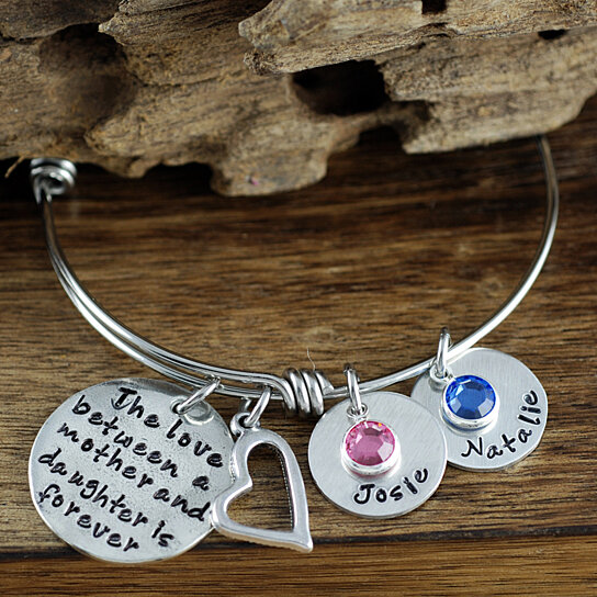 bracelet three zoom personalized il letter silver charms bangle fullxfull charm bangles bracelets listing
