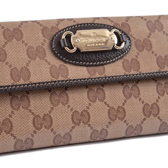 66813f13d7e7 Buy New Gucci 231841 Crystal Canvas GG Guccissima W/Coin Continental Clutch  Wallet by Annie's Unique Accessories on OpenSky