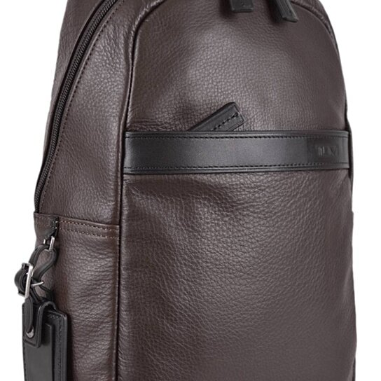 4b45ed52cbf611 Trending product! This item has been added to cart 7 times in the last 24  hours. New Tumi Men s 69718 Brown Leather Berkshire Backpack Sling Bag