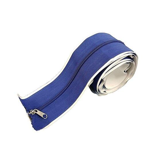 BAY HYDRO 7FT Blue Tarp Zip Up Zipper Door Peel /& Stick Doorway 86L x 3W