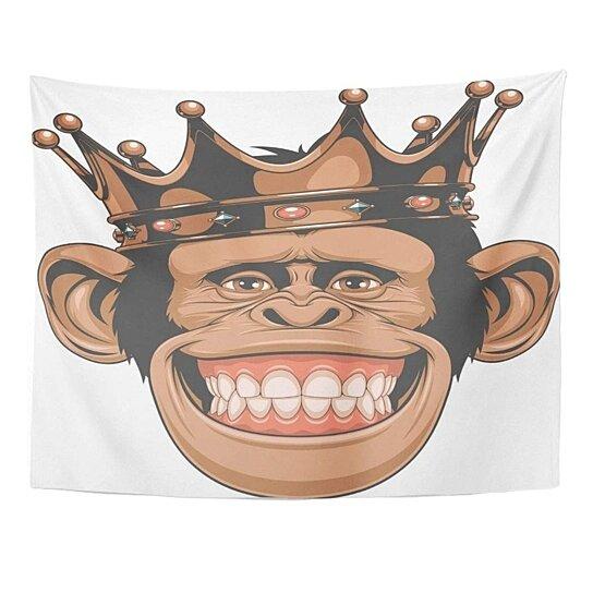 Buy Cool Funny Monkey Crown Gorilla Smile King Face Chimpanzee Wall Art Hanging Tapestry 60x80 Inch By Ann Pekin Pekin On Dot Bo Download 1,478 monkey cartoon free vectors. cool funny monkey crown gorilla smile king face chimpanzee wall art hanging tapestry 60x80 inch