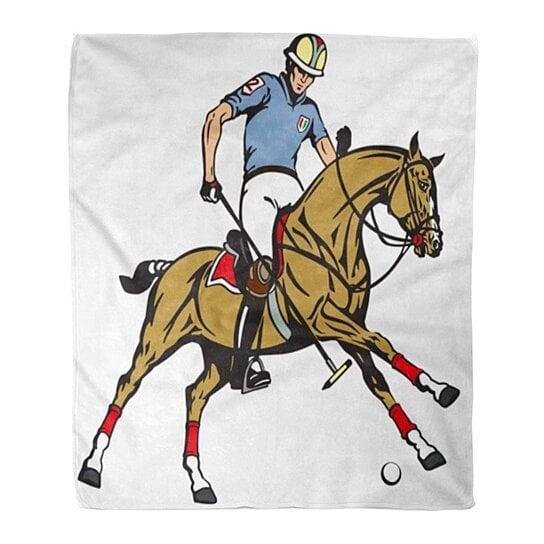 Buy Flannel Throw Blanket Equestrian Polo Sport Player Riding Pony Horse Holding Soft 58x80 Inch By Ann Pekin Pekin On Dot Bo