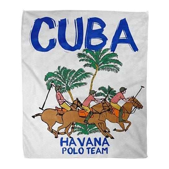 Buy Flannel Throw Blanket Game Horse Cuba Havana Polo Team Graphic Beach Soft 58x80 Inch By Ann Pekin Pekin On Dot Bo