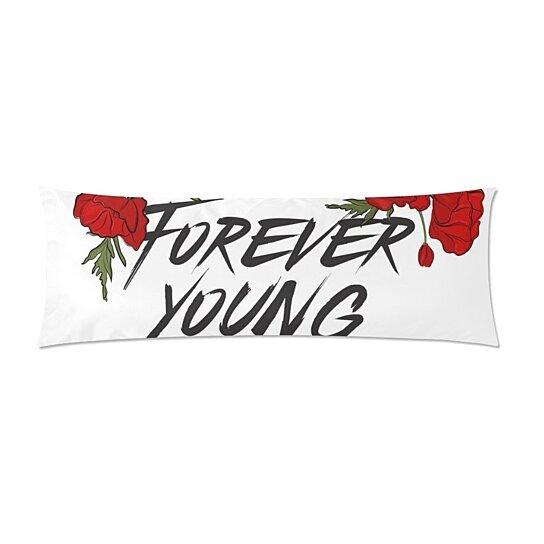 Buy Forever Young Body Pillow Covers Pillowcase Throw Pillows 20x60 Inch By Ann Pekin Pekin On Dot Bo