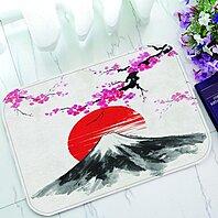 Buy Japanese Doormat Sakura Cherry Trees Mountain Fuji Under The Red Sun Doormat Outdoors Indoor Floor Mats Rugs 23 6x15 7 Inch By Ann Pekin Pekin On Dot Bo