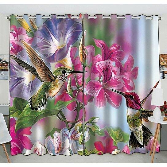 Buy Novelty Hummingbird Blackout Curtains Window Treatment Panel Drapes 52 W X 84 H Inches Two Piece By Ann Pekin Pekin On Dot Bo