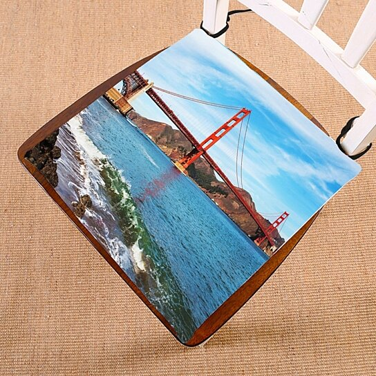 Buy Ocean Seascape Chair Pad Golden Gate Bridge In San Francisco California Usa Seat Cushion Chair Cushion Floor Cushion 20x20 Inch By Ann Pekin Pekin On Dot Bo