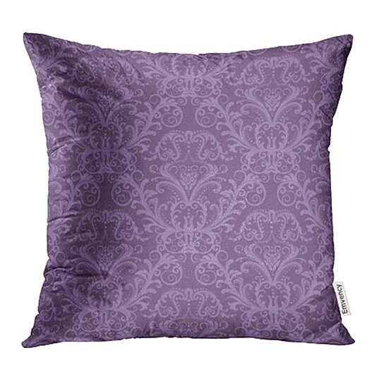 Buy Pink Damask Purple Floral Vintage Classy Lavender Luxury Victorian Wall Ornate Pillow Cases Cushion Cover 16x16 Inch By Ann Pekin Pekin On Dot Bo
