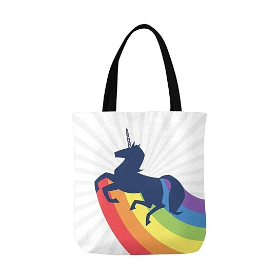 Buy Unicorn Rainbow Shine Reusable Grocery Bags Shopping Bag Canvas Tote Bag Shoulder Bag By Ann Pekin Pekin On Dot Bo