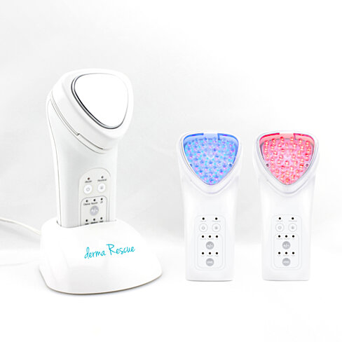 derma Rescue LED Light Therapy and Facial Toning System