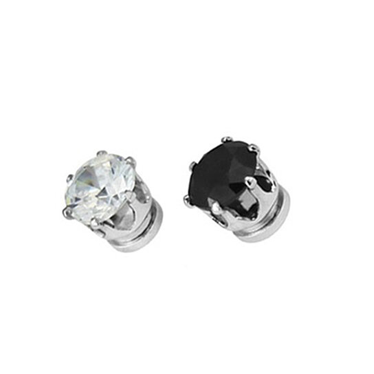 cc81e6b14 Trending product! This item has been added to cart 78 times in the last 24  hours. 1Pair Unisex Men Women Magnet Clip On Cubic Zirconia Earring No ...
