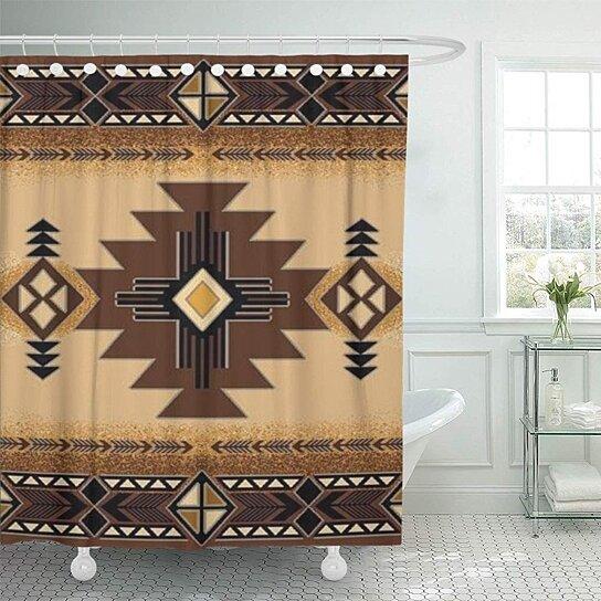 Buy Browns Santa Fe Creams South Western Bathroom Decor Bath Shower Curtain 66x72 Inch By Wallis Flora On Dot Bo
